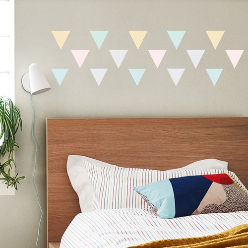 Vinilos Decorativos Triangulos Color Pastel Trama Geometrico