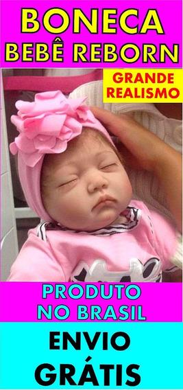 Boneca Bebê Reborn Realista C/ Enxoval - Menina Brinquedo