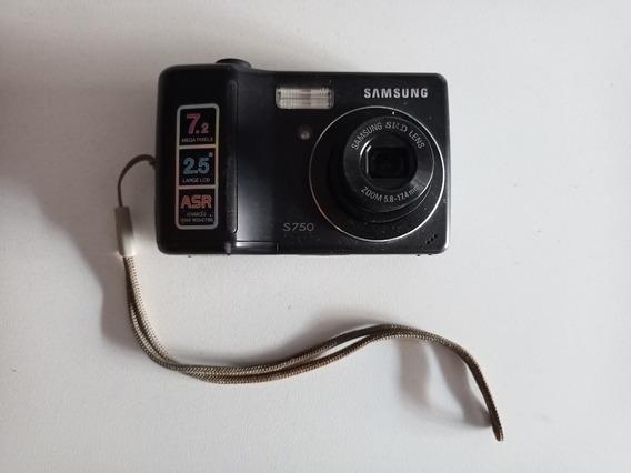 Camara Digital Samsung S750 7.2mp Memoria 1gb, Estuche