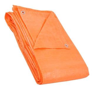 Lona Impermeável Laranja Resistente Cobrir 4 X 3 Com Ilhoses