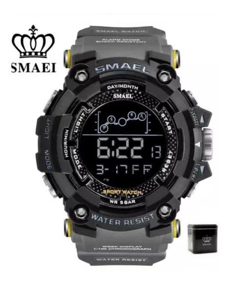 Relógio Smael 1802 Tático Militar Na Caixa A Prova D