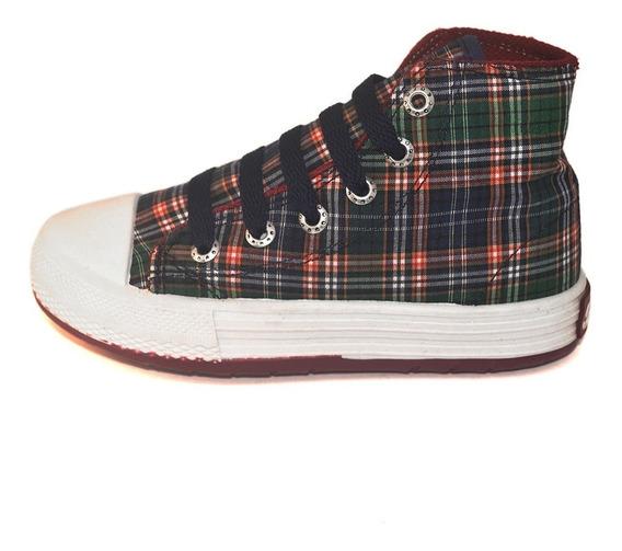Bota Cuadros Small Shoes Envío Gratis