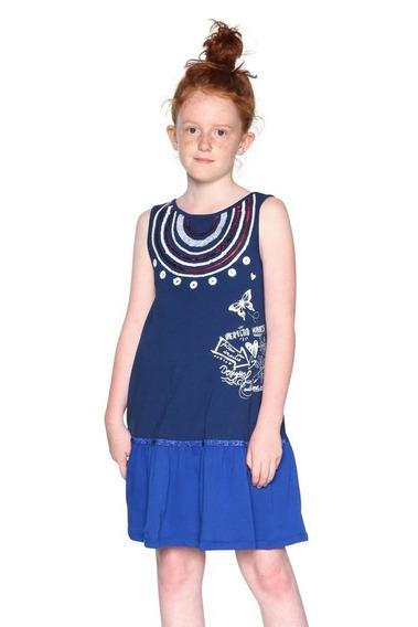Vestido Desigual Niña Modelo Accra Oferta 3/4 A 11/12