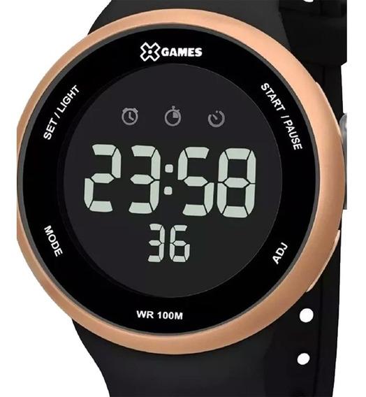 Relógio Xgames Digital Negativo Esportivo Original Xmppd547