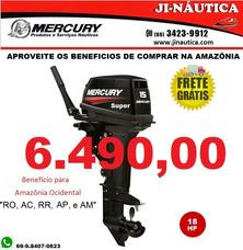 Motor De Popa Mercury - Carburados - 2t - 15 M Super 18 Hp