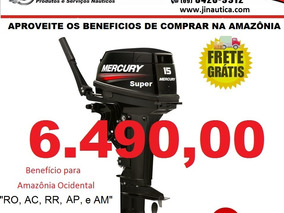 Motor De Popa Mercury - Carburados - 2t - 15 M Super 18 Hp