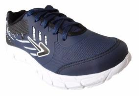 Tenis Box Caminhada Sola Eva - Bx1731 Azul