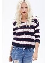 Sweater Pullover Importado A Rayas Boucle Forever X X I