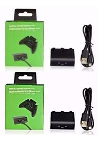 2 Bateria Cabo Carregador Controle Xbox One Charge Play Kit