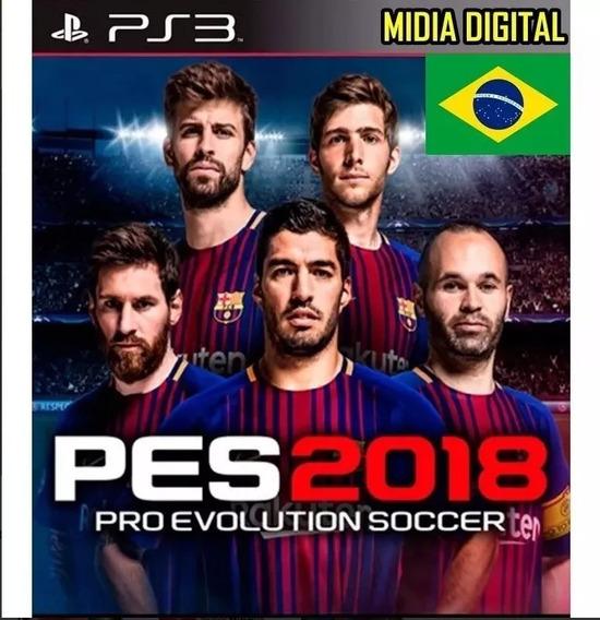 Pes 18 Pro Evolution Soccer 2018 Pt-br Ps3 Psn Envio Rápido