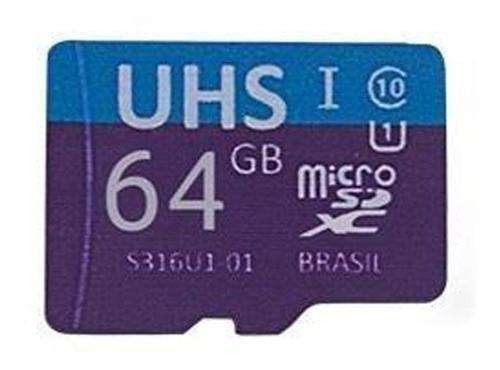 Cartão De Memória 64gb Ultra High Speed + Adaptador C/ Nota