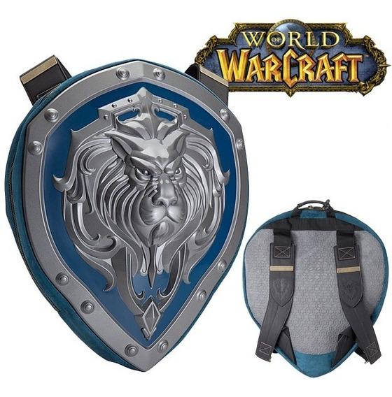 Mochila World Of Warcraft Escudo De Alianza 50cm Original