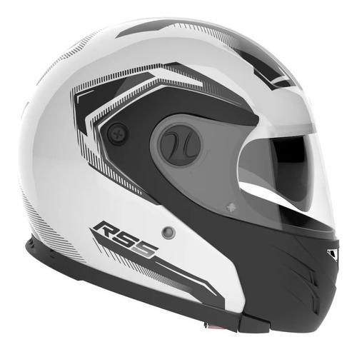 Casco para moto modular Hawk RS5 Vector  blanco talle XL