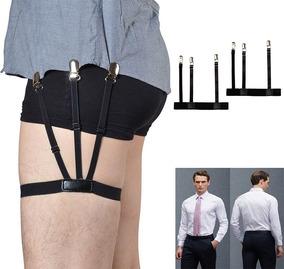 Par Esticador Prendedor Elástico Camisa Social Suspensório