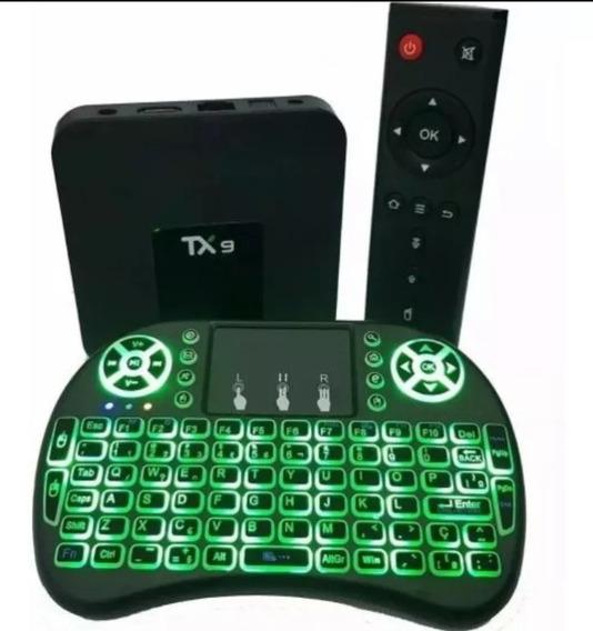 Conversor Smart Tv Tx9androide 2gb +mini Teclado De Led