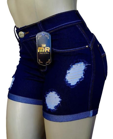 Shorts Bermudas Cintura Alta Roupa Feminina Kit 2