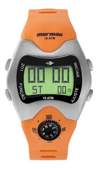 Relógio Digital Mormaii Bússola Prata Mo1324ab/1l
