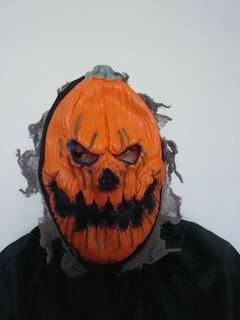 Máscara Látex Calabaza De Terror Halloween
