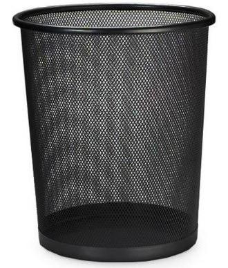 Lixeira Redonda De Aço Para Escritorio Telada Cesto De Lixo
