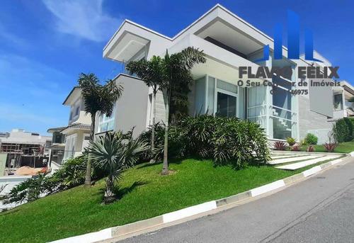 Casa A Venda Nova E Moderna Com 4 Suites Venda Condominio Real Park Arujá - 420