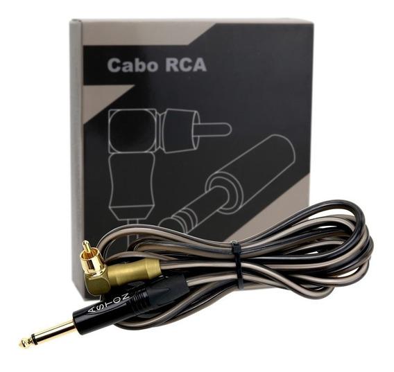Cabo Rca Silicone Aston Machine Preto (com Nota Fiscal)