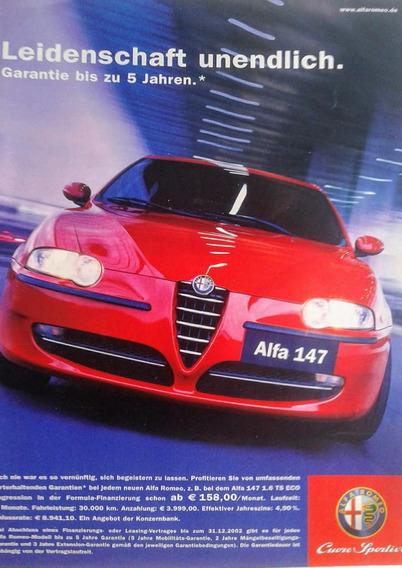 Especial Publicitario Alfa Romeo 4 Anuncios De Colección
