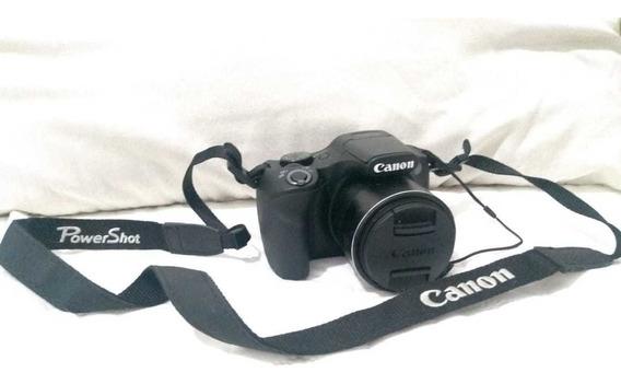 Câmera Canon Power Shot Sx520 Hs Usada + 2 Baterias E Outros