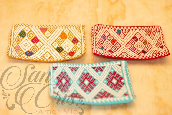 Lote 12 Cosmetiqueras Artesanales Hechas En Telar Chiapas