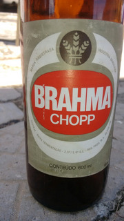 Garrafa Vazia De Brama Chopp Antiga