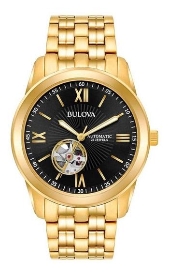 Relógio Bulova Masculino Analógico Dourado Wb32004u