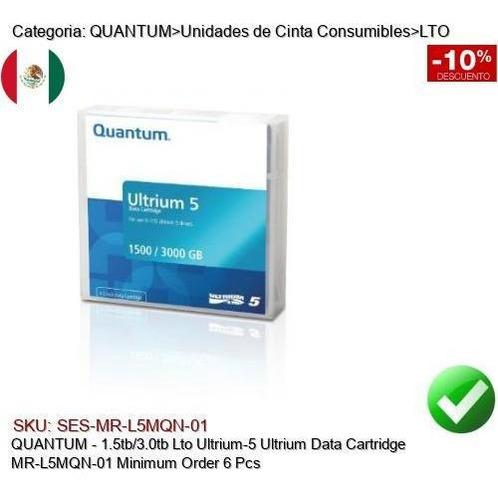 Imagen 1 de 1 de Quantum 1.5/3tb Lto Ultrium5 Cinta Respaldo Mr-l5mqn-01