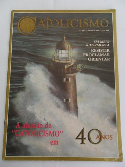 Revista Catolicismo N° 481 Ano De 1991 Atuação Em 40 Anos