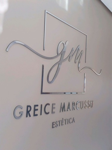 Imagem 1 de 2 de Logotipo Parede Personalizado Loja Escritório Espelhado50x30