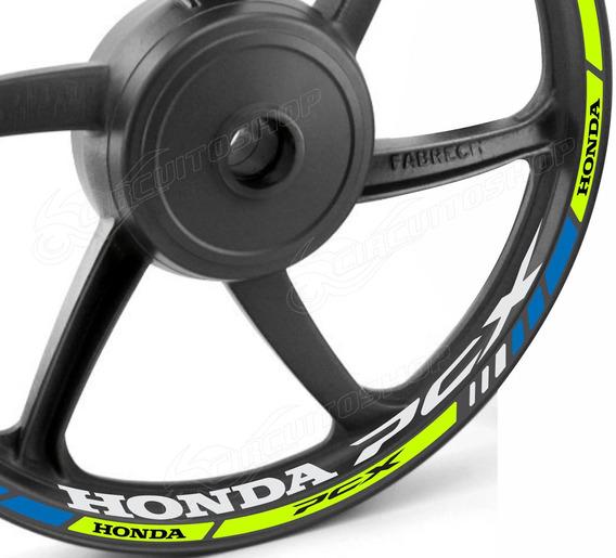 Friso + Adesivo Refletivo D10 Roda Moto Honda Pcx 150