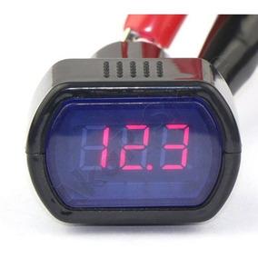 Voltímetro Medidor Tensão Digital Led Azul 12v 24v Bateria