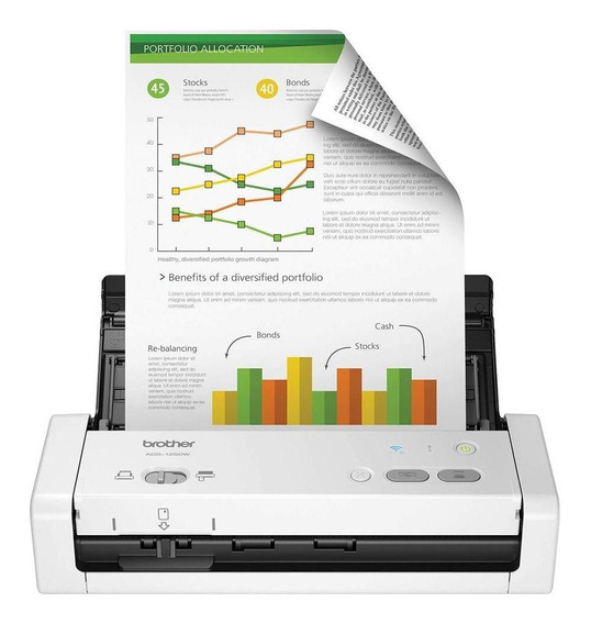 Scanner Compacto Brother Usb, Wi-fi - Ads-1250w
