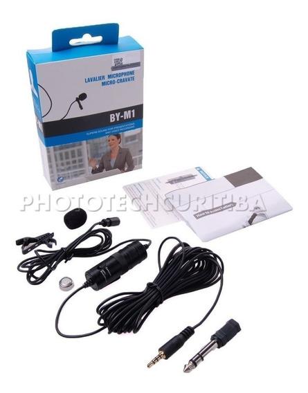 Boya Microfone De Lapela By-m1 P/ Celular Cameras Dslr Nfe