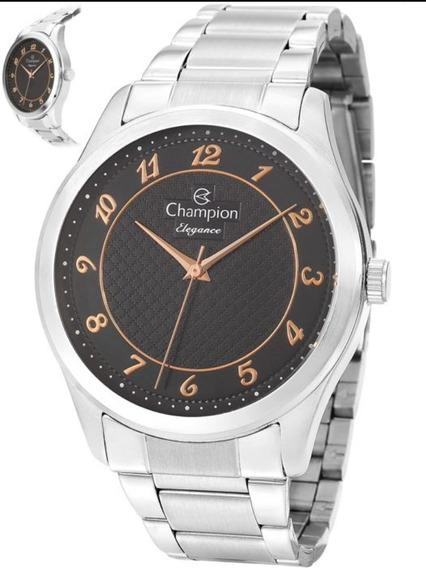 Relógio Champion Feminino Prata Elegance Cn27723t