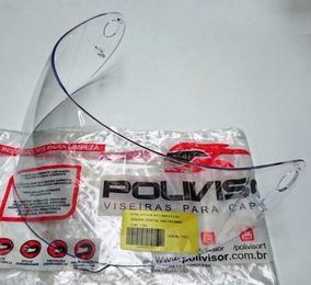 Viseira Capacete Vaz V 10 V 100 Modelo Novo Com Furo Cristal