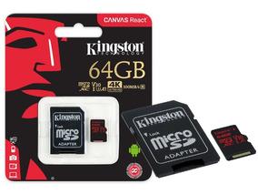 Cartao De Memoria Classe 10 Kingston Sdcr 64gb Micro Sdxc 64