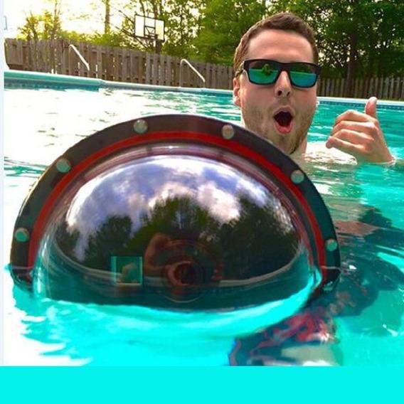 Dome Bolha Go Pro Hero 7 6 5 Subaquático Gatilho Gopro Kit