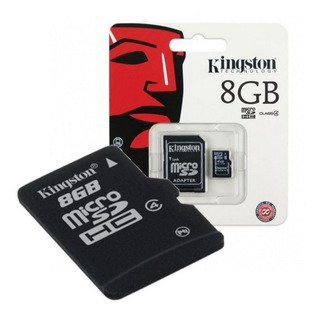 Tarjeta De Memoria Kingston Microsd 8gb Clase 4 Adaptador Sd