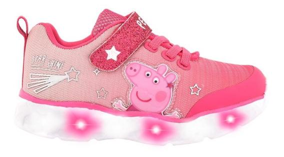 Zapatillas Peppa Pig Con Luces Originales Fty Calzados