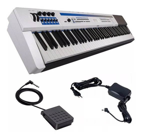 Piano Casio Digital Privia Px-5s Pro We Branco 88 Teclas E P