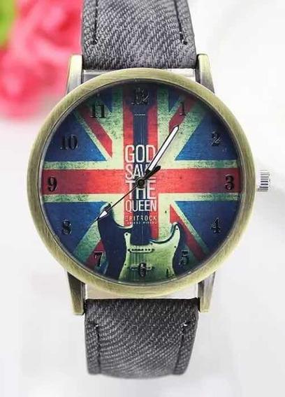 Relógios Masculinos Jeans Bandeira Da Inglaterra Rock Punk