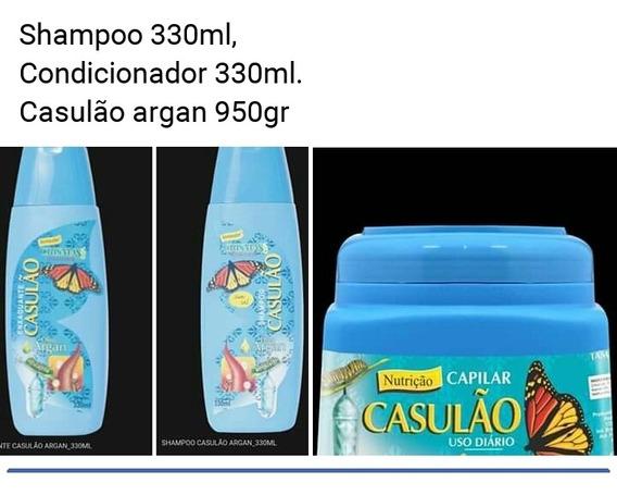 Casulao: Shampoo 330ml+condicionador 330ml+hidratação 950gr