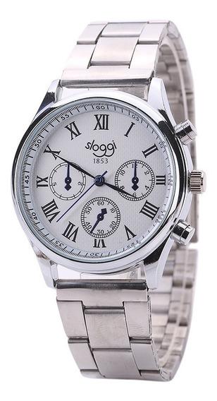 Relógio De Quartzo Masculino Geral Business Pulseira De Aço