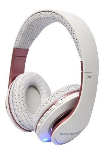 Fone Bluetooth Stereo Headset Com Microfone Sd E Fm Branco