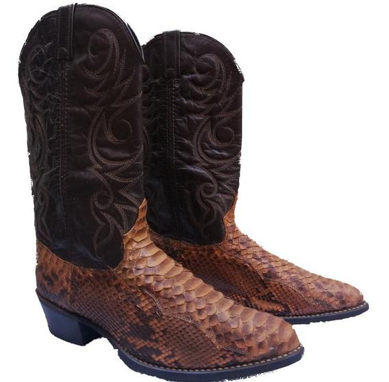 Botas Texanas Piel De Anaconda Origen U.s.a Con Regalo!!
