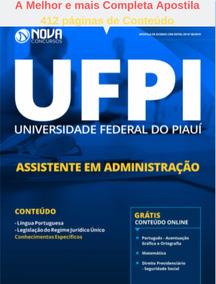 Apostila Completa Assistente Em Administração Ufpi 2019